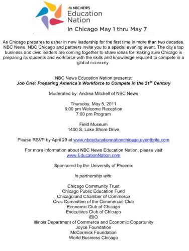 NBC News Education Nation presents Job One forum