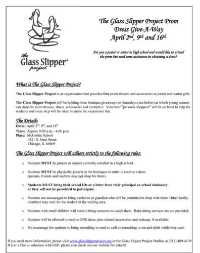 Free Prom Dresses from The Glass Slipper Project